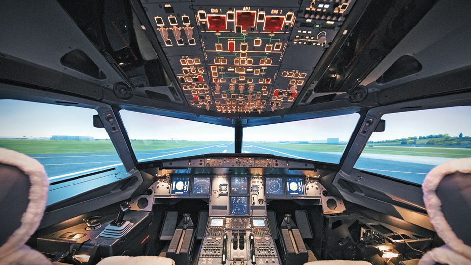 Cabine de pilotageA320